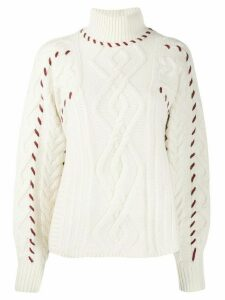 Ba & Sh Eba stitch detail jumper - White