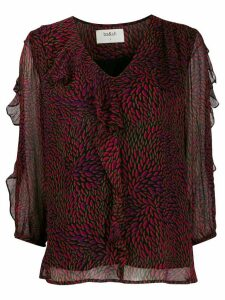 Ba & Sh ruffled shift blouse - PURPLE
