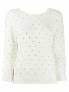 Ba & Sh Amby rhinestone jumper - White