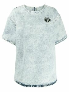 Mm6 Maison Margiela acid-wash oversized T-shirt - Blue