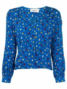 Ba & Sh slim-fit floral blouse - Blue