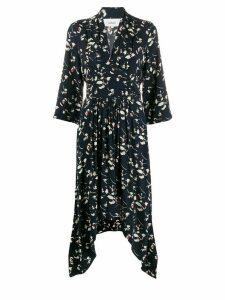 Ba & Sh floral print flared dress - Blue