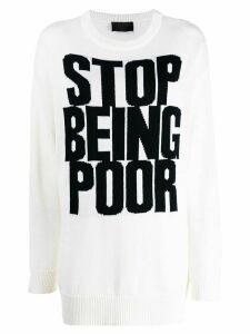 Philipp Plein 'Stop Being Poor' jumper - White