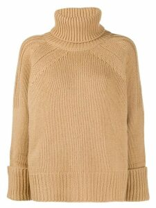 Ba & Sh Nagora turtle neck jumper - NEUTRALS