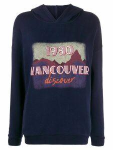 Ba & Sh Vancouver printed hoodie - Blue