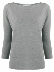 Fabiana Filippi boat neck slim-fit jumper - Grey