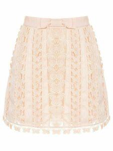 Zimmermann Super Eight flutter mini skirt - PINK