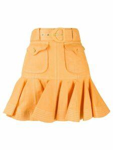 Zimmermann Super Eight safari skirt - ORANGE