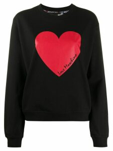 Love Moschino heart print sweatshirt - Black