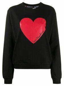 Love Moschino heart print sweatshirt - Black