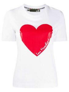 Love Moschino heart logo T-shirt - White