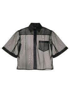 Toga flared sleeve sheer shirt - Black