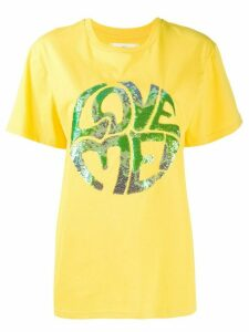 Alberta Ferretti sequinned print T-shirt - Yellow