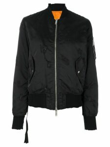 UNRAVEL PROJECT distressed bomber jacket - Black