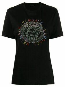 Versace crystal medusa logo T-shirt - Black