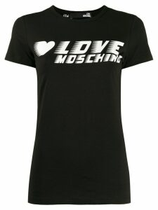 Love Moschino logo jersey T-shirt - Black