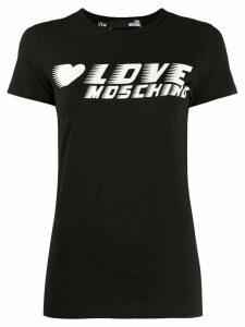 Love Moschino logo jersey T-shirt - Black