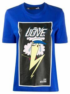 Love Moschino graphic print T-shirt - Blue