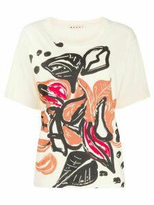Marni floral print T-shirt - NEUTRALS