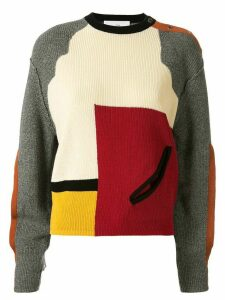 Toga colour block cut-out detail sweater - Red