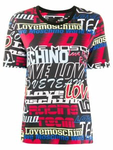 Love Moschino all-over logo print T-shirt - Black