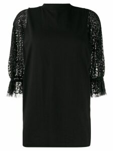 Givenchy point d'Esprit sleeved T-shirt - Black