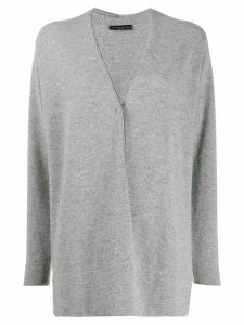 Fabiana Filippi oversized V-neck cardigan - Grey