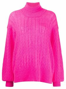 Maison Flaneur balloon-sleeved oversized sweater - PINK