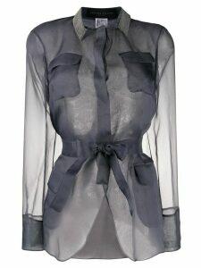Fabiana Filippi sheer shirt jacket - Grey