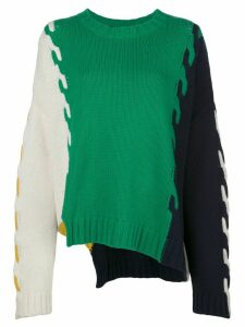 Monse colour block oversized jumper - Green