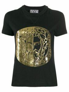 Versace Jeans Couture metallic logo T-shirt - Black