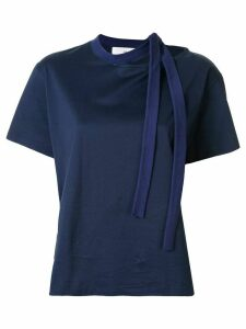 Toga asymmetric tie detail T-shirt - Blue