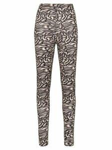 Maisie Wilen Pixelated print high-waisted leggings - Black