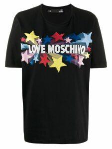 Love Moschino star logo print T-shirt - Black