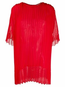Marco De Vincenzo oversized pleated blouse - Red