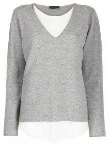 Fabiana Filippi double-layered sweater - Grey