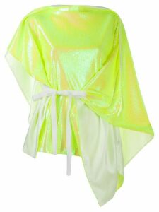 Mm6 Maison Margiela sequin-embellished draped top - Yellow