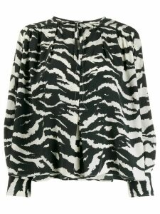 Isabel Marant printed tunic top - Black