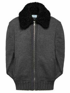 Prada Cordonnet yarn cardigan - Grey