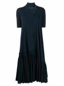 Jil Sander short-sleeve midi dress - Blue