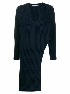 Stella McCartney cut-out longline jumper - Blue