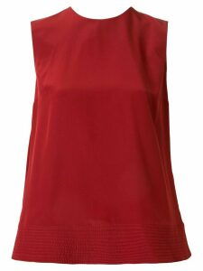 Roksanda silk pleated detail blouse - Red
