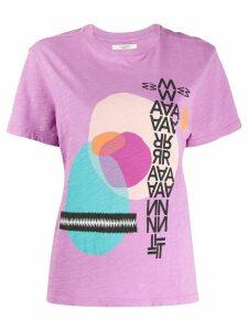 Isabel Marant Étoile graphic print T-shirt - PURPLE