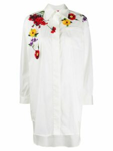 Blumarine floral embroidered shirt - White