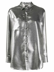 Marco De Vincenzo metallic relaxed-fit shirt - Grey
