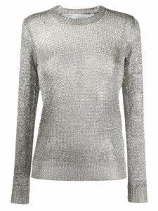 IRO Domus metallic knit jumper - SILVER