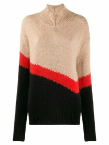 Neil Barrett Modernist knit jumper - NEUTRALS