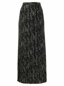 Salvatore Ferragamo logo printed skirt - Black