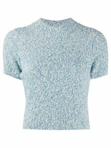 Sandro Paris Ginna mottled jumper - Blue
