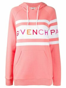 Givenchy embroidered logo hoodie - PINK